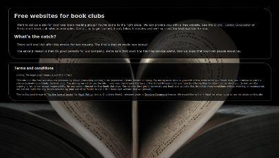 Free Websites for Book Clubs project